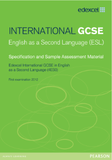 Edexcel International GCSE English (as a 2nd language) specification